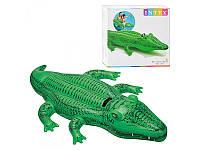 """Детский надувной плотик """"Крокодил"""" Intex 58546"""
