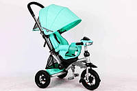 Велосипед-коляска Azimut T350 Crosser (надувное колесо) мята
