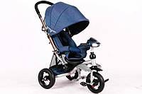 Велосипед-коляска Azimut T350 Crosser ECO (надувное колесо) синий
