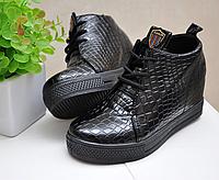 Ботинки на танкетке питон на шнуровке Fashion с 34 по 40 р