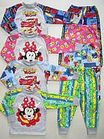 Пижама детская Веселые Мульты с начесом размеры на  86-140см.