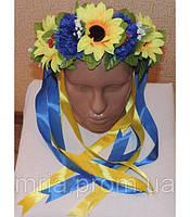 Венок из цветов на голову украинский национальный
