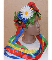 Венок из цветов на голову для девочек