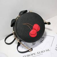 Круглая сумочка Вишенки