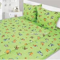 Комплект детского постельного белья Набивная бязь 147х112