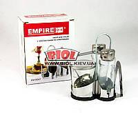 Набор для специй 4 пр. (соль, перец, соус, салфетница) из нержавейки Empire EM-9547