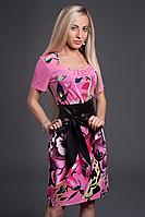 Платье женское мод 350-4,размер 46,52 розовое