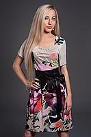 Платье женское мод 350-6,размер 48,50,52 серое