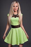 Платье женское модель №349-4, размеры  42,44 салат