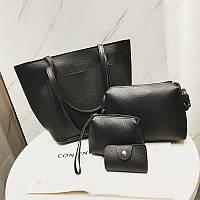 Набор женских сумок черный Дефект