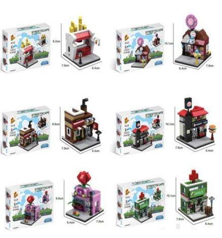 Конструктор 657001-657006 (120шт) 6 видов, в коробке /120/