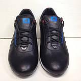 Кроссовки мужские кожаные р. 45 последняя пара цвет черный, фото 2