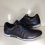 Кроссовки мужские кожаные р. 45 последняя пара цвет черный, фото 3