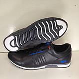 Кроссовки мужские кожаные р. 45 последняя пара цвет черный, фото 4