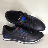 Кроссовки мужские кожаные р. 45 последняя пара цвет черный, фото 6