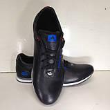 Кроссовки мужские кожаные р. 45 последняя пара цвет черный, фото 7