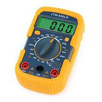 Компактный мультиметр jtw-830ln, для работ с током, цифровой, защитный чехол + подсветка экрана