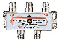 SAT Split 4 way EUROSKY 5 - 2500МГц с проходом питания