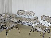 Набор кованой мебели: диван+ 2 кресла