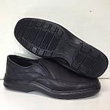 Мужские кожаные туфли, очень качественные, прошитые, фото 4