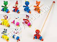 Деревянная игрушка Каталка, 6 видов, животные MD0024