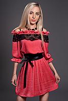 Платье женское модель №439-1, размеры 44-46,46-48 коралл