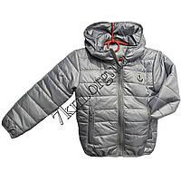 Детская демисезонная куртка 2-6 лет Оптом 020905 серая