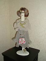 Интерьерная авторская текстильная кукла ручной работы Благородная дама