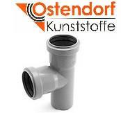 Тройник ПП 32x32х87º Ostendorf (Osma) Германия раструбный с уплотнительными кольцами серый