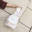 Рюкзак с ушками двухсторонние пайетки, бело-розовый 207-22, фото 5