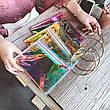 Прозрачный клатч на молнии, ручка металлическое кольцо розовый 207-32, фото 5