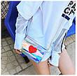 Мини сумочка прозрачная с сердечком на цепочке 207-8, фото 3