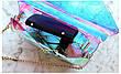 Мини сумочка прозрачная с сердечком на цепочке 207-8, фото 4