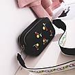 Клатч на ремне с вышивкой вишни - черный цвет 207-14, фото 2