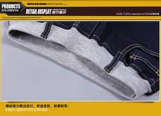 Детские джинсовые брюки в классическом синем цвете, пояс на резинке 203-14, фото 3