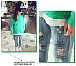 Детские джинсы - Граффити - свободного покроя, рваные 203-1, фото 4