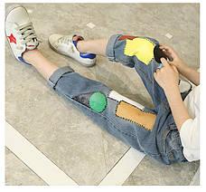 Джинсы для девочки, аппликация патч-работа 203-6, фото 2