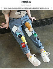 Джинсы для девочки, аппликация патч-работа 203-6, фото 3
