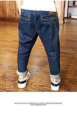 Джинсы на мальчика, модные с потертостями 202-9, фото 2