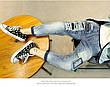 Рваные детские джинсы на мальчика - нашивки, молнии 202-7, фото 5
