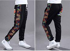 Модные спортивные штаны с манжетами на мальчика 201-10, фото 3