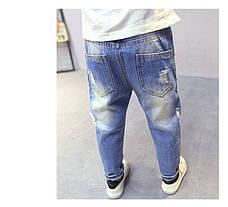 Светлые рваные детские джинсы - узкие 202-8, фото 2