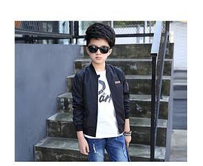 Крутой бомбер на мальчика черного цвета 201-72, фото 2