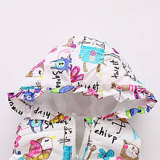 Милая жилетка на девочку - нежный детский принт 205-6, фото 2