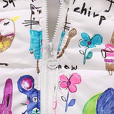 Милая жилетка на девочку - нежный детский принт 205-6, фото 3