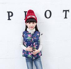 Жилетка детская на девочку - принт красивые пионы 206-3, фото 2