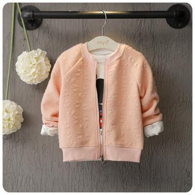 Кофта на молнии на девочку - нежная и комфортная розовая 206-2