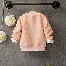 Кофта на молнии на девочку - нежная и комфортная розовая 206-2, фото 2