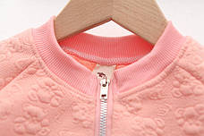 Кофта на молнии на девочку - нежная и комфортная розовая 206-2, фото 3
