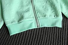 Кофта на молнии на девочку - нежная и комфортная бирюзовая 206-2, фото 2